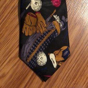 Vintage Dimoda Golf Patterned Necktie
